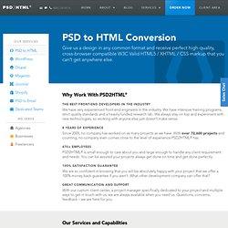 PSD to HTML Conversion – PSD2HTML®