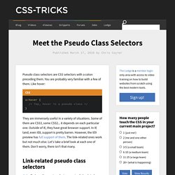 Meet the Pseudo Class Selectors