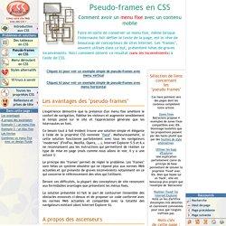 Pseudo-frames en CSS