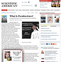 Science vs pseudoscience essays