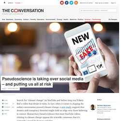 Pseudoscience is taking over social media – and putting us all at risk