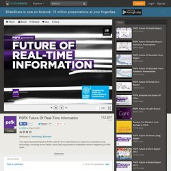 PSFK presents Future Of Real-Time