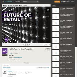 PSFK presents Future of Retail report