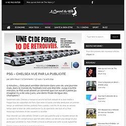 PSG – Chelsea vue par la publicité