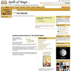 Psi Shield - Free Magic Spell