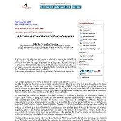 Psicologia USP - A Teoria da Consciência de David Chalmers