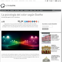La psicología del color según Goethe