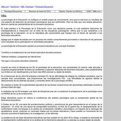 Resumen de textos COLL - UBA - Psicologia - Psicologia Educacional - Chardon (ex-Elichiry) - 2008