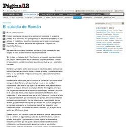 El suicidio de Román
