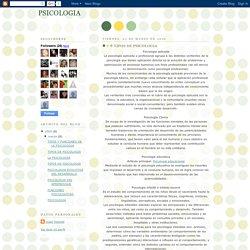 PSICOLOGIA: TIPOS DE PSICOLOGIA