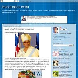 PSICOLOGOS PERU: NOBEL DE LA PAZ: MUJERES LUCHADORAS