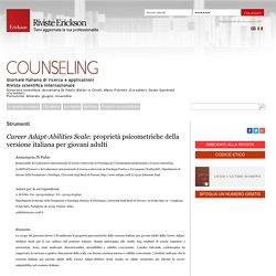 Career Adapt-Abilities Scale: proprietà psicometriche della versione italiana per giovani adulti