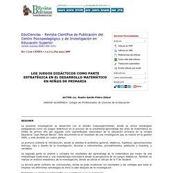 EduCiencias - Revista Científica de Publicación del Centro Psicopedagógico y de Investigación en Educación Superior - LOS JUEGOS DIDÁCTICOS COMO PARTE ESTRATÉGICA EN EL DESARROLLO MATEMÁTICO EN NIÑ@S DE PRIMARIA