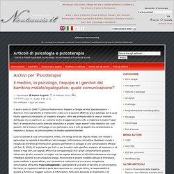 Articoli di psicologia e psicoterapia