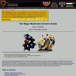 Psilocybin Mushroom Vaults : The Magic Mushroom Growers Guide
