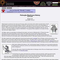 Erowid Psilocybin Mushroom Vault : Psilocybe Mushroom History