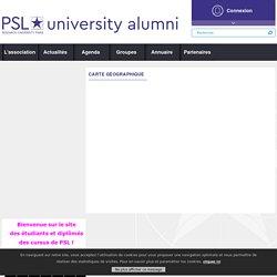 PSL Alumni - Carte géographique