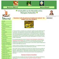 Psoriasis, huile de poisson et traitement naturel - Se soigner avec des Oméga-3