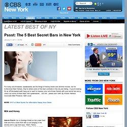 Pssst: The Best Secret Bars in New York & CBS New York