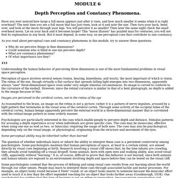Psych 200 Unit 6 Module 6 - Depth Perception