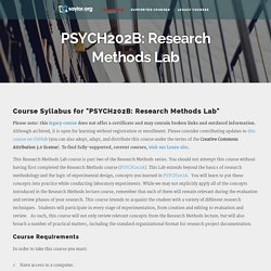PSYCH202B: Research Methods Lab
