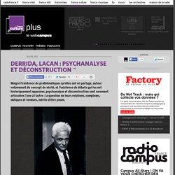 DERRIDA, LACAN : PSYCHANALYSE ET DÉCONSTRUCTION