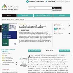 La psychanalyse d'un point de vue féministe matérialiste: l'invite du Deuxième Sexe