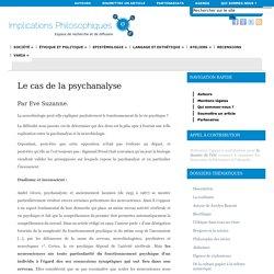 Le cas de la psychanalyse