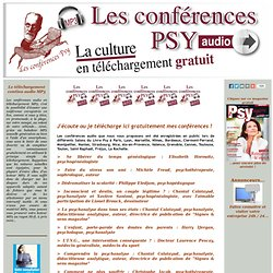 Conférences Psy Audio gratuites, téléchargeables (MP3) dans Signes et sens