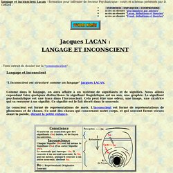 langage inconscient lacan jacques psychanalyste psychanalyse document psychologie