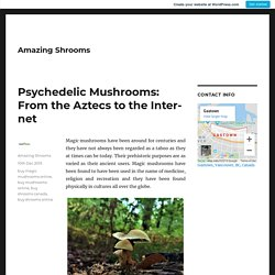 Psychedelic Mushrooms: From the Aztecs to the Internet