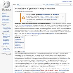 Psychedelics in problem-solving experiment