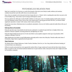 PSYCHEDELICS RELIEVES PAIN - PSYCHEDELICS RELIEVES PAIN