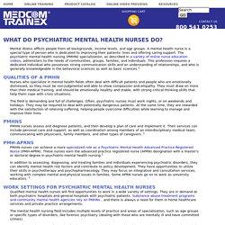 What Do Psychiatric Mental Health Nurses Do?