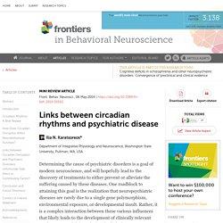 Links between Circadian Rhythms and Psychiatric Disease