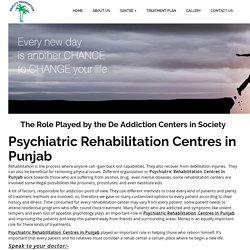 Psychiatric Rehabilitation Centres in punjab