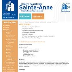 Offre de soins - C. M. M. E. - Psychiatrie adulte - Psychiatrie - Offres de soins - Centre Hospitalier Sainte Anne