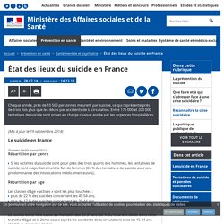 État des lieux du suicide en France - Santé mentale et psychiatrie