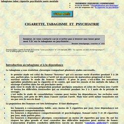 tabagisme cigarette tabac et psychiatrie hopital psychiatrique hospitalise