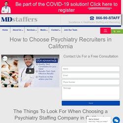 Psychiatry Recruiter in California
