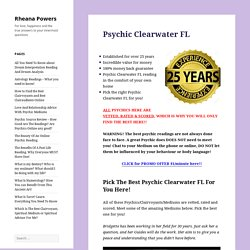 The Best Psychic Clearwater, FL