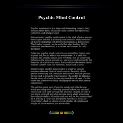 Psychic Mind Control