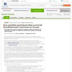 Les maladies psychiques liées au travail insuffisamment reconnues en Europe