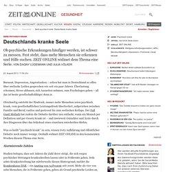 Serie psychisch krank: Deutschlands kranke Seele