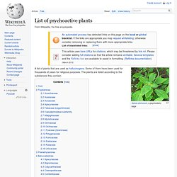 List of psychedelic plants
