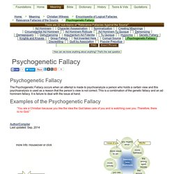 Psychogenetic Fallacy