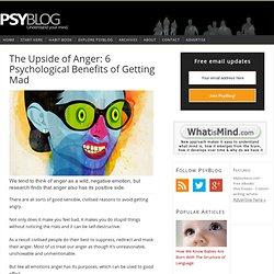 Psychological study of anger