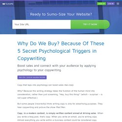 Why Do We Buy? Because Of These 5 Secret Psychological Triggers in Copywriting