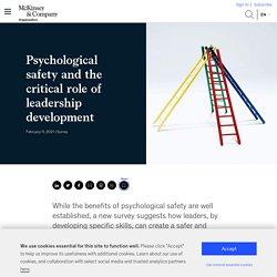 Psychological safety and leadership development