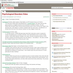 Teaching of Psych Idea Exchange: An OTRP Resource / Psychological Disorders Video